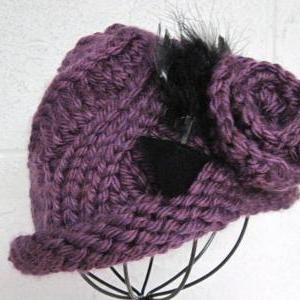 Child s Knit Hat Pattern Bulky Yarn : Swirl Cloche Flapper Bucket Hat In Bulky Yarn Knitting ...